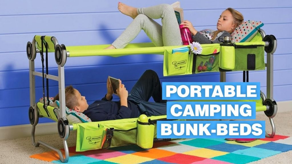 The portable bunk beds are perfect for vacations and camping. It can be convenient for summer camps or about anywhere life may take you.