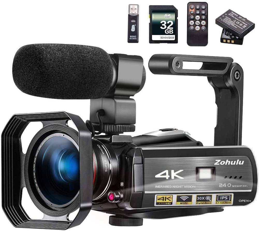Video Camera 4k Video Camcorder Zuhulu Vlogging