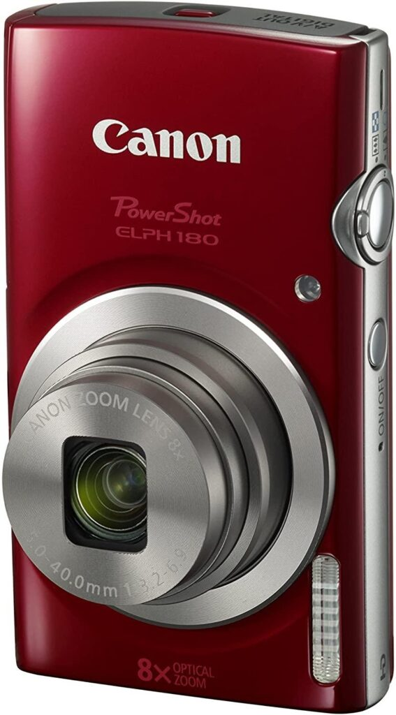 Canon PowerShot ELPH 180 digital camera with image stabilization