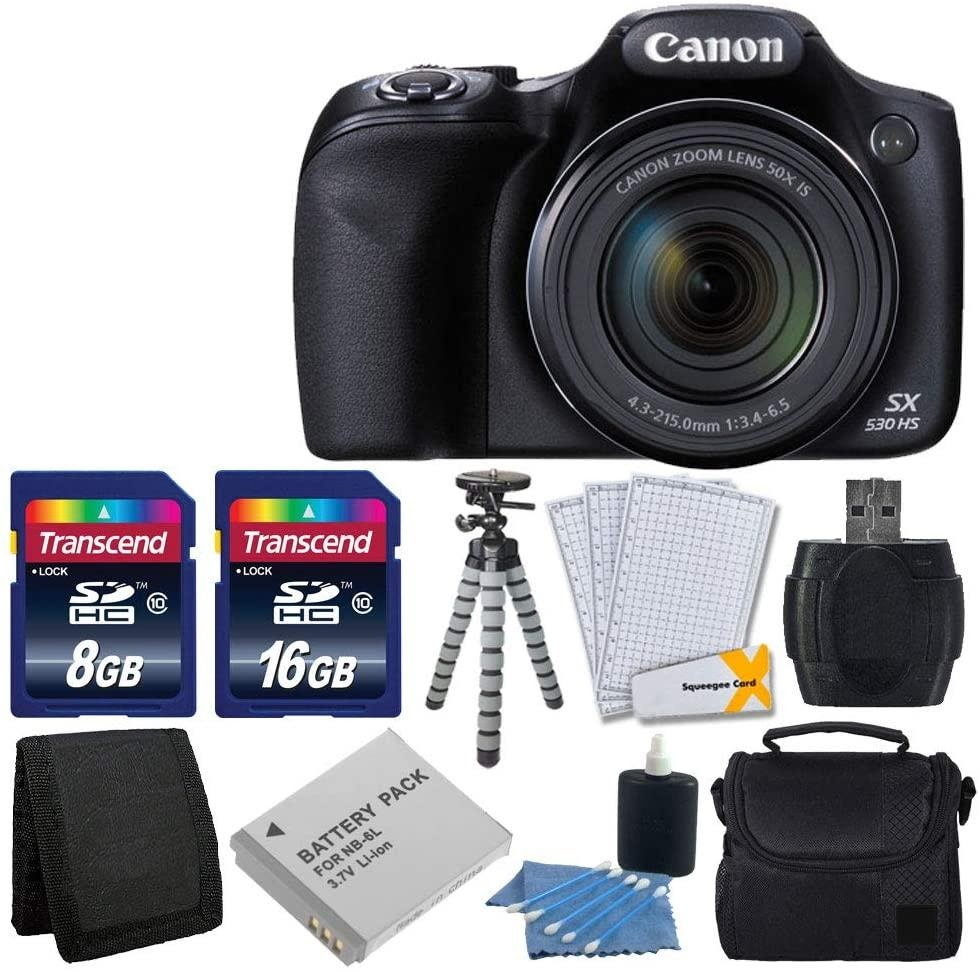 Canon PowerShot HX-530 HS Digital Camera With 50x Optical Image Stabilized Zoom